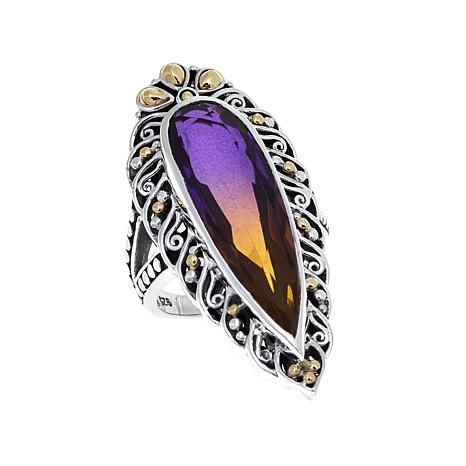 Bali Designs 9.28ctw Ametrine-Color Quartz Doublet Ring