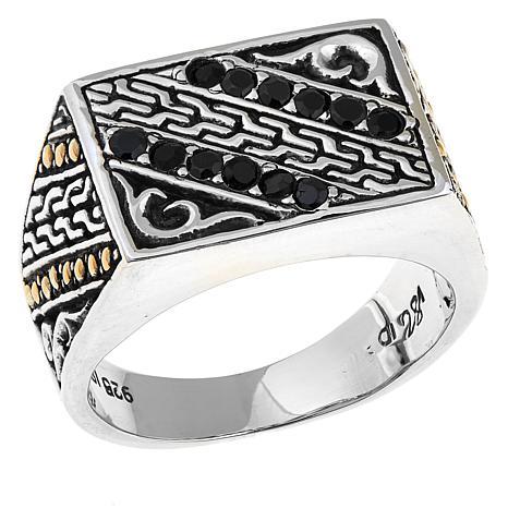 Bali Designs Men's 0.36ctw Black Spinel Ring