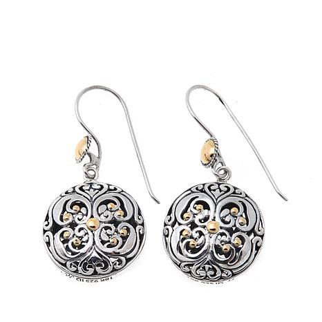 Bali Designs Scrollwork and Bead Detail Drop Earrings