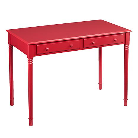 Barris Farmhouse 2 Drawer Writing Desk Rustic Red