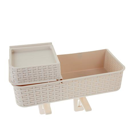 Basket Buddy 2-pack Rattan-Look Organizing Shelves