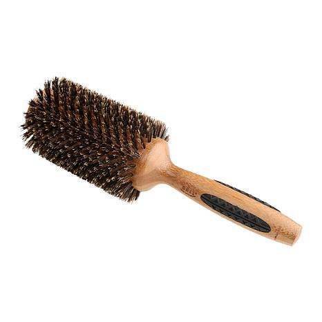 Bass Brushes P Series Straighten & Curl XL Brush with Natural Bristles