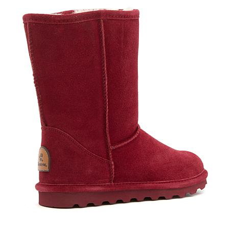 1dd3daf43 BEARPAW® Elle Suede Sheepskin Boot with NeverWet™ - 8488871   HSN