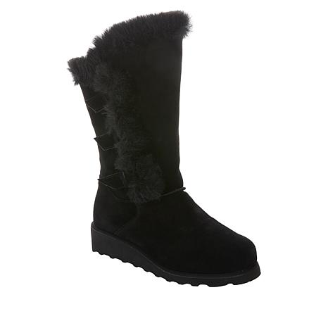 BEARPAW® Genevieve Suede Buckled Boot with NeverWet™