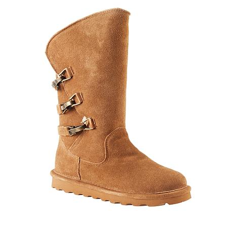 BEARPAW® Jenna Suede Buckled Boot with NeverWet™