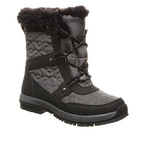 BEARPAW® Marina Leather Waterproof Quilted Boot