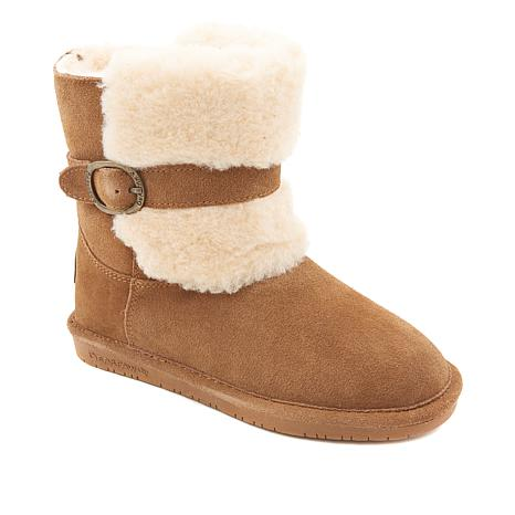BEARPAW® Millie Suede Buckled Boot with NeverWet™