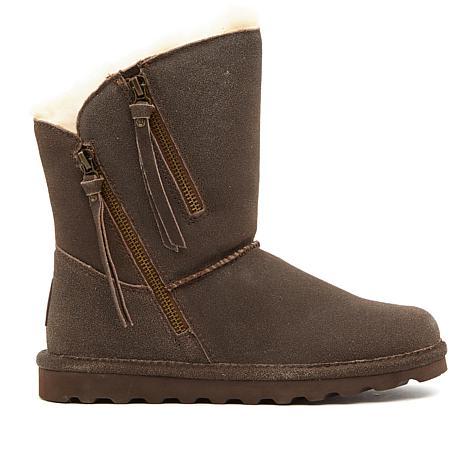 BEARPAW® Mimi Suede Zipper Boot  with NeverWet™