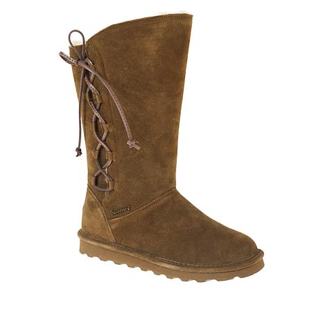 BEARPAW® Rita Suede Sheepskin Laced Boot with NeverWet™