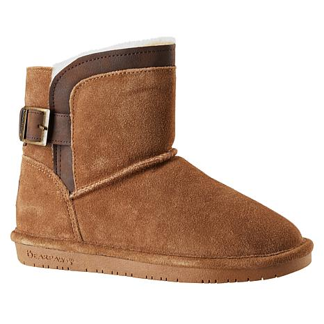 BEARPAW® Shantelle Suede Buckled Short Boot