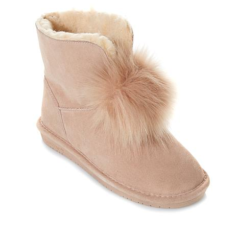 BEARPAW® Suede Sheepskin Pom Pom Boot with NeverWet™