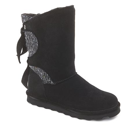 BEARPAW® Willow Suede Tie Detail Boot with NeverWet™