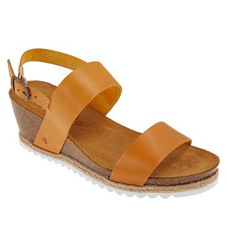 BEARPAW® Yasmin Leather Wedge Sandal
