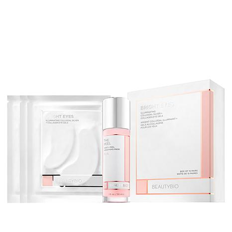 BeautyBio The Peel Smoothing Mask & 15-piece Bright Eyes Eye Patches