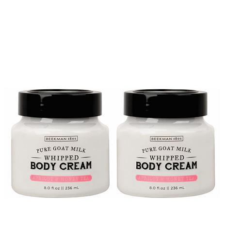 Beekman 1802 Apricot & Honey Tea Goat Milk Whipped Body Cream Duo- AS®