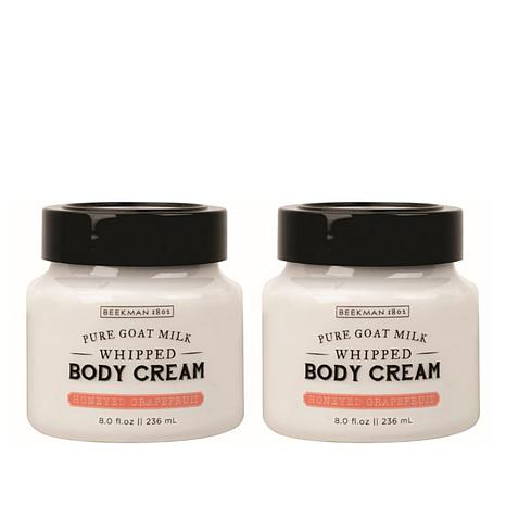 Beekman 1802 Honeyed Grapefruit Goat Milk Whipped Body Cream Duo