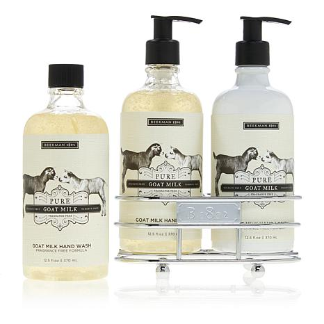 Beekman 1802 Pure Goat Milk Hand and Body Wash & Lotion Caddy Set