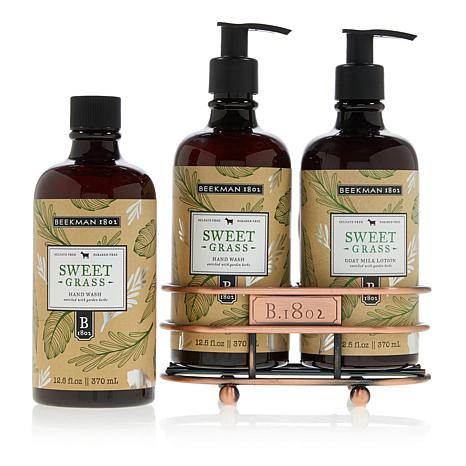 Beekman 1802 Sweet Grass Hand Wash & Lotion Caddy Set Auto-Ship®