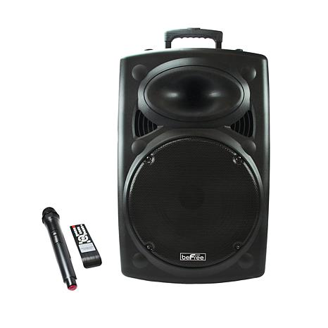 "beFree Sound 15"" Powered Portable PA Party Speaker"