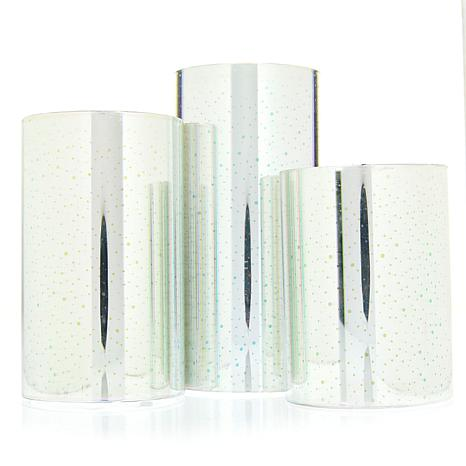 Bell + Howell Glitter Candles 3pk - Flicker or Color Changing