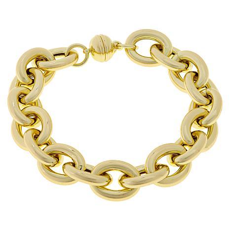 Bellezza Bronze High-Polished Oval Link Bracelet