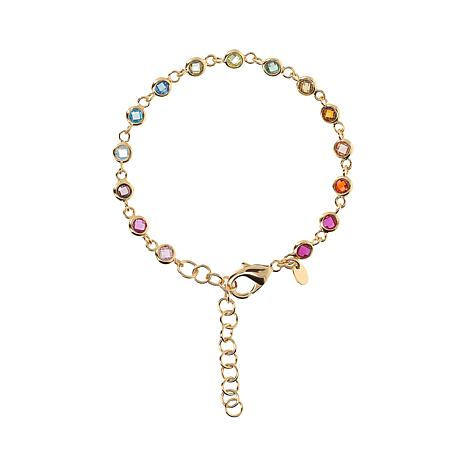 Bellezza Bronze Rainbow Crystal Link Bracelet