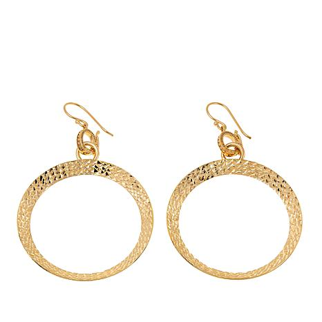 Bellezza Bronze Reversible Circle Drop Earrings