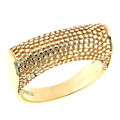 Bellezza Bronze Textured Saddle Ring