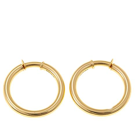 Bellezza Bronze Tubular Clip-On Hoop Earrings