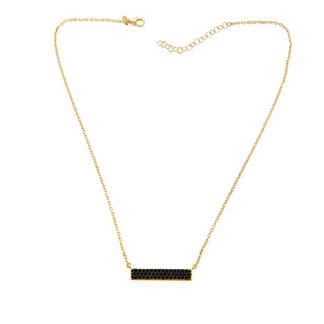 "Bellezza ""Rivoltabile"" .90ctw Black Spinel Bar Necklace"