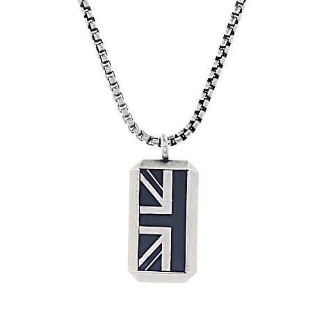 c89d891b7ba7 Ben Sherman Men s Stainless Steel Enamel British Flag Pendant Necklace -  8641451