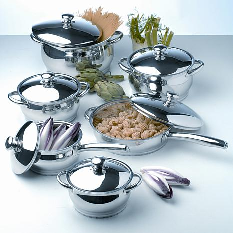 berghoff cosmo 12 piece cookware set 7704250 hsn