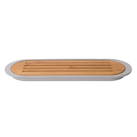 "BergHOFF Leo 15"" Bamboo Baguette Cutting Board with Tray"
