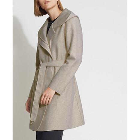 Bernardo Sweater Wool Wrap Coat