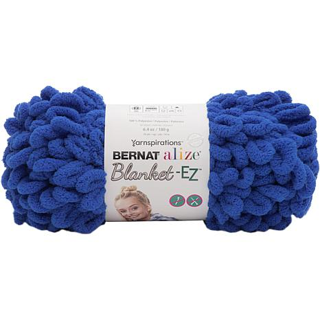 Bernat Alize Blanket-EZ Yarn - Bright Blue