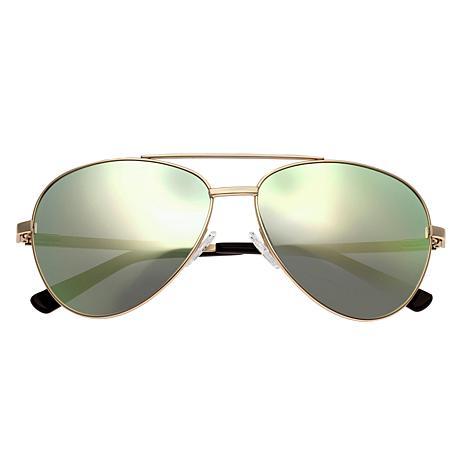 Bertha Bianca Polarized Sunglasses Gold Frame Yellow Lens
