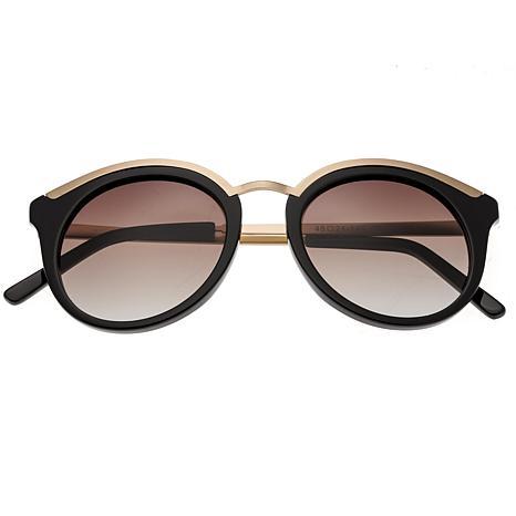 Bertha Caroline Polarized Sunglasses with Black Frames and Lenses