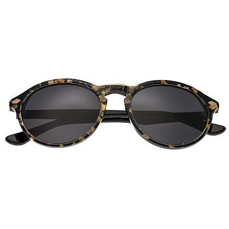 Bertha Kennedy Polarized Sunglasses with Tortoise Frame & Black Lenses