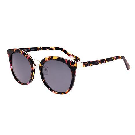 Bertha Lucy Polarized Sunglasses - Pink Tortoise Frames & Black Lenses