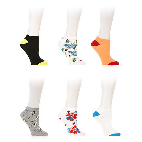 Betsey Johnson 6-pack Embellished Low-Cut Socks