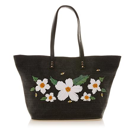 Betsey Johnson Floral Embroidery Tote