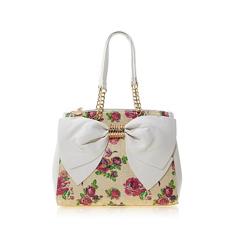 Betsey Johnson Welcome Big Bow Satchel