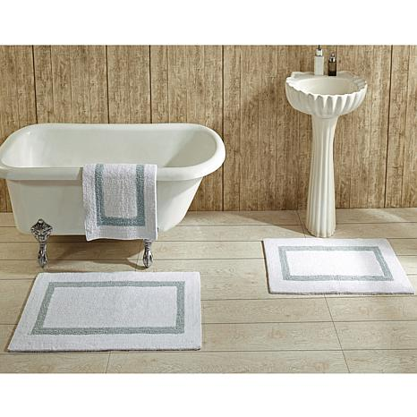 Better Trends Hotel Collection Reversible 2 Piece Bath Rug Set 8220917 Hsn