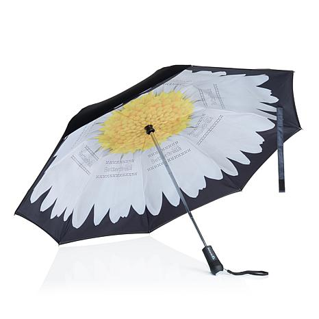 BetterBrella Compact Auto Open/Close Umbrella with Lighted Handle