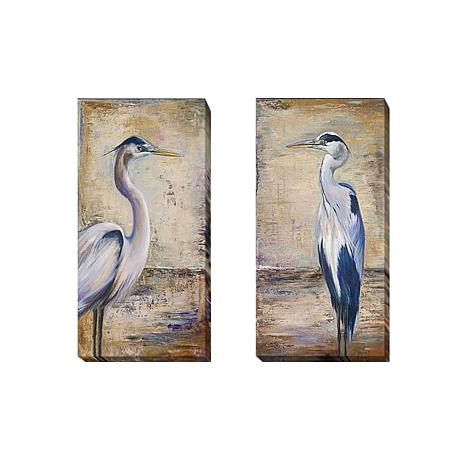 """Blue Heron"" by Pinto 2pc Gallery-Wrapped Giclee Set"