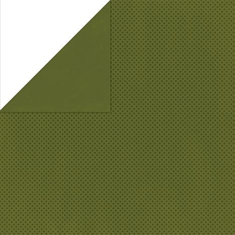 Bo Bunny Double Dot Double-Sided Cardstock - Olive