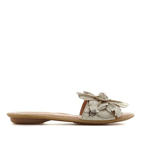 Born® Mai Floral Leather Slide Sandal