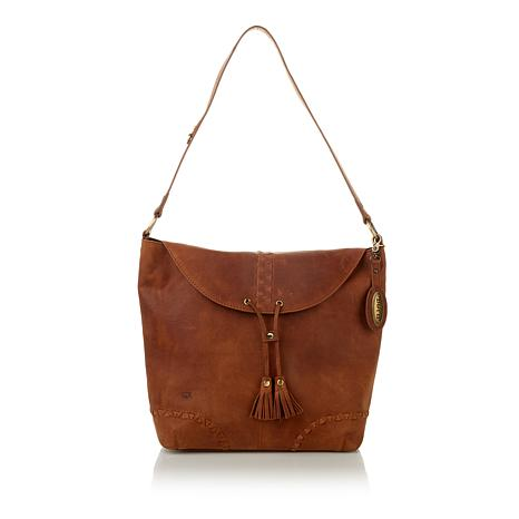 Born Oakfort Distressed Leather Hobo