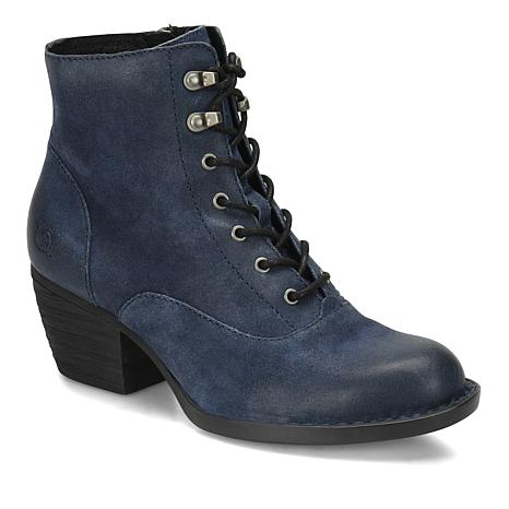 Born® Vilma Burnished Suede Lace-Up Bootie