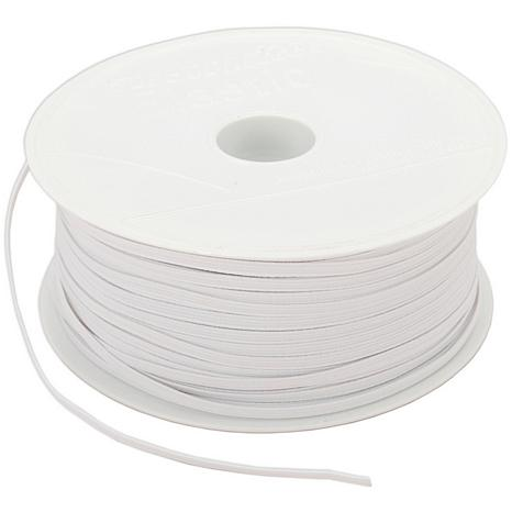 "Braided 1/8"" Wide 150 Yard Elastic - White"